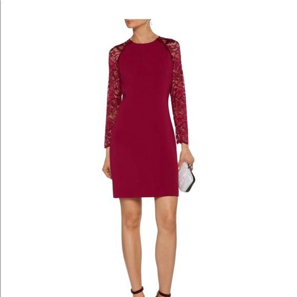 cdbbf7ed01 Badgley Mischka Dresses | Badgley Michka Janelle Lace Sleeves Wine ...